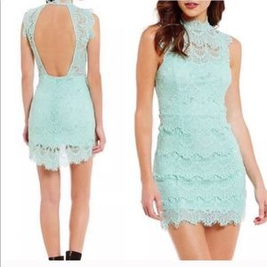 Free People Daydream high low Lace Dress